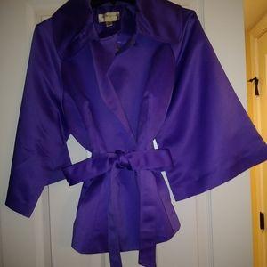 Satin dress jacket